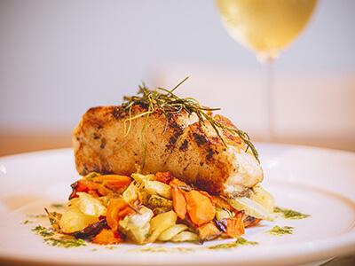 Foto de lombo de pescada grelhada do restaurante Coquille